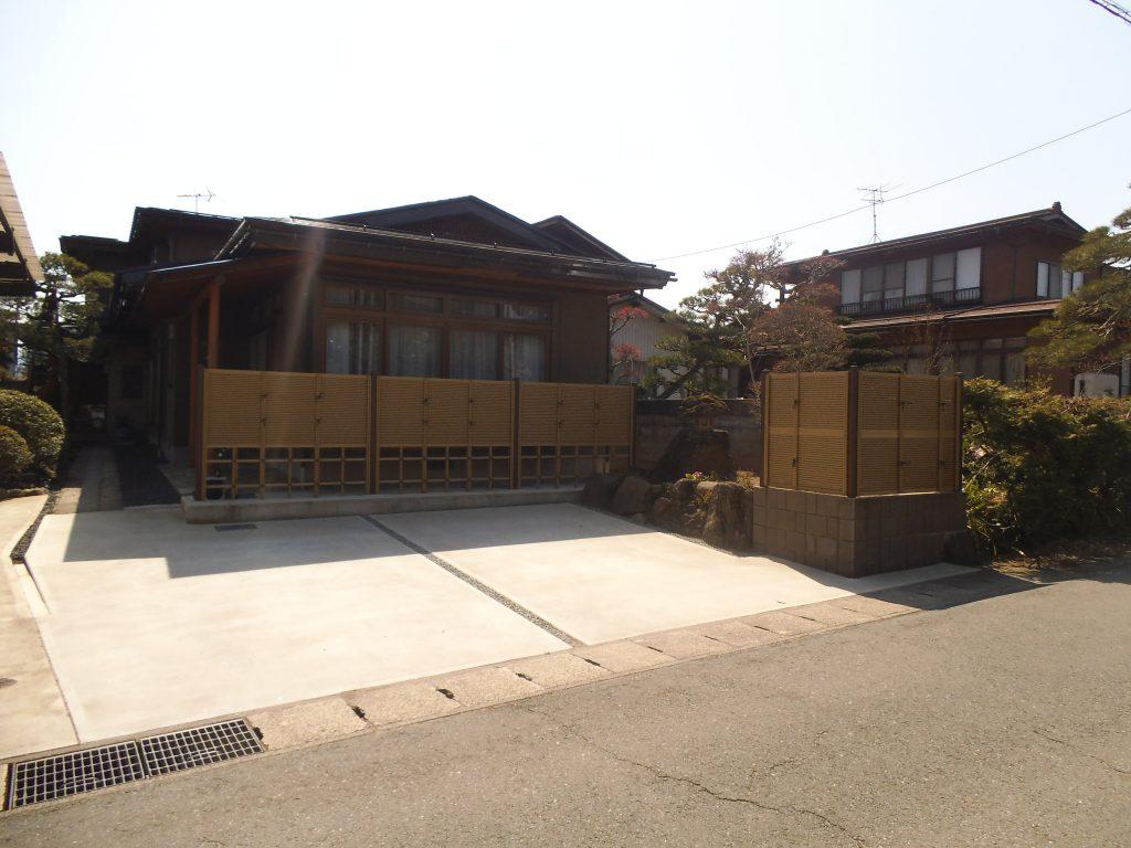 山辺町K様邸フェンス工事   E-planning(イープランニング)